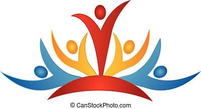 Teamwork Business People Logo.