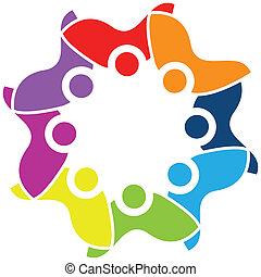 Teamwork Einheit Logo Vektor.