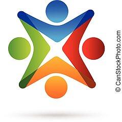 Teamwork Einheit Logo.