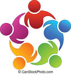 Teamwork Geschäftspartner Logo.
