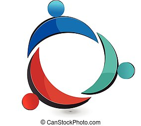 Teamwork Gewerkschaft Leute Logo.