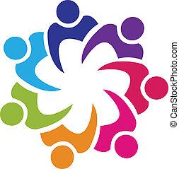 Teamwork Gewerkschaftler Logovektor