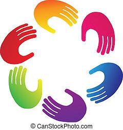 Teamwork-Hände-Logo