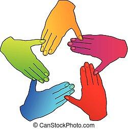 Teamwork Hand Logo