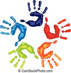Teamwork Hand Logo.