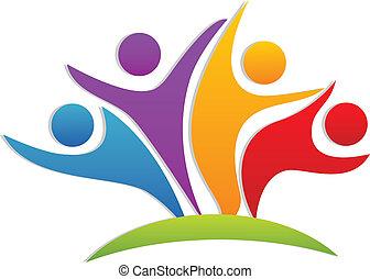 Teamwork Happy Partner Logo.
