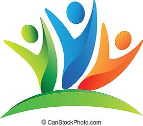 Teamwork Happy People Logo