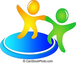 Teamwork hilft Logovektor