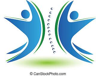Teamwork Human Spine Logo