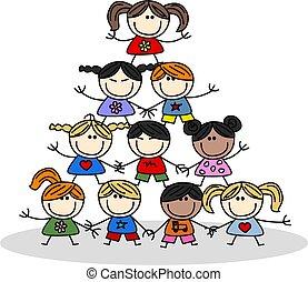Teamwork Kids Ethnizität.