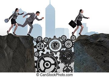 Teamwork Konzept mit Geschäftsleuten.