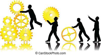 Teamwork-Konzept