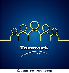Teamwork, Leader & Leadership Vektor-Konzeptgrafik