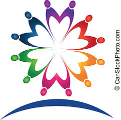 Teamwork-Leute-Logovektor