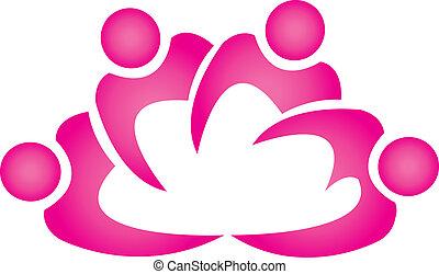 Teamwork Logo-Blumenform-Logo
