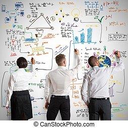 Teamwork mit neuem Business Projekt.