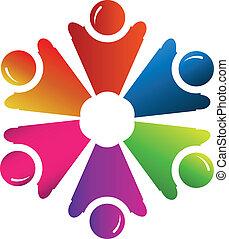 Teamwork People Group Logo Vektor.