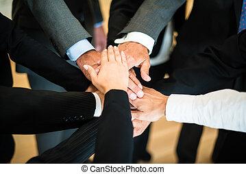 Teamwork - Stapel Hände