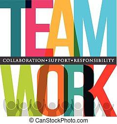 Teamwork Typografie.