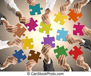 Teamwork und Integrationskonzept.