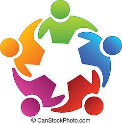 Teamwork Vielfalt Menschen Logo.