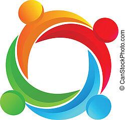 Teamwork, vielseitiges Logo