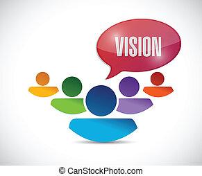 Teamwork Vision Illustration Design.