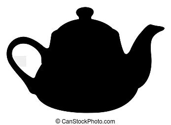 Teapot Silhouette.