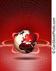 Technologie-Aktion der Welt