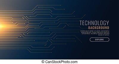Technologie Backgorund mit Schaltplan.