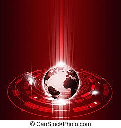 Technologie, globale Kommunikation.
