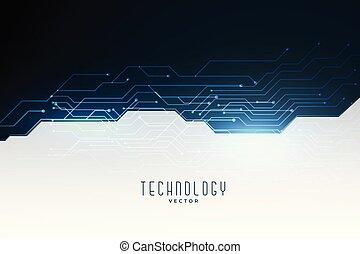 Technologie-Schaltdiagramm Konzept Banner.