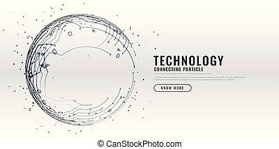 Technologie-Schaltkreis-Design Hintergrund.