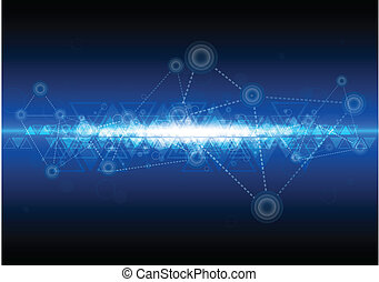 technologie, vernetzung, hintergrund, digital