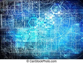 technologie, zukunftsidee, hintergrund
