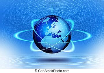 Technologieaktion der Welt.