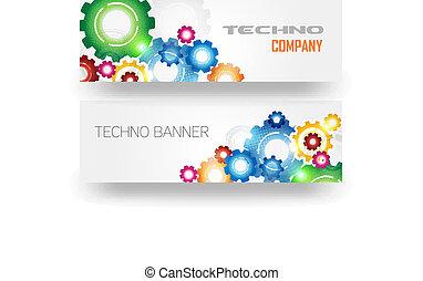 Technologiefarbenes Getriebe