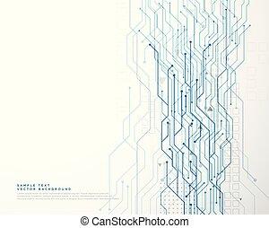 Technologiekreislaufdiagramm Netzwerk Hintergrund.
