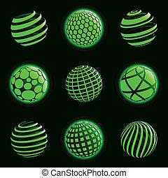 Technologieplaneten-Ikonen.