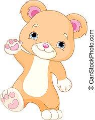 Teddybär geht