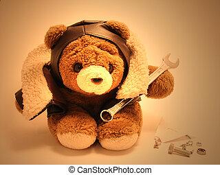 Teddybär-Mechaniker.
