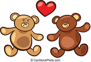 Teddybären lieben sich