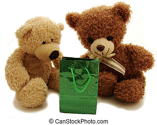 Teddybären präsentiert