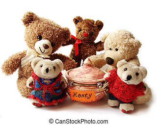 Teddybären und Honig
