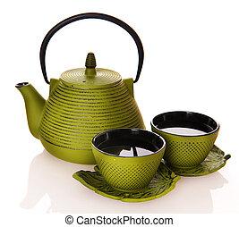 Tee über Weiß
