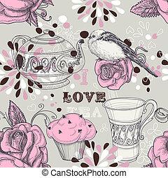 Tee liebt nahtlose Muster.