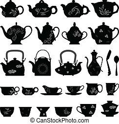 Tee-Teepot-Tasse asian orientalisch.