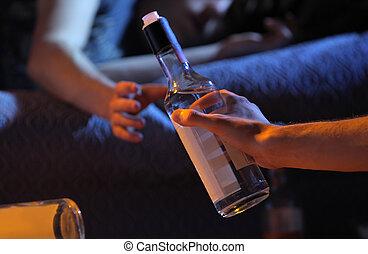 Teen Alkoholsucht Konzept.
