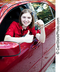 Teen Driver - Daumen hoch
