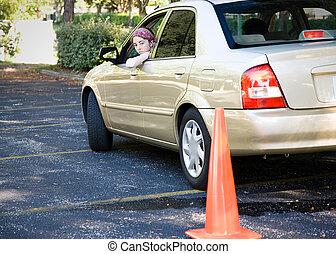 Teen Fahrprüfung - Parken